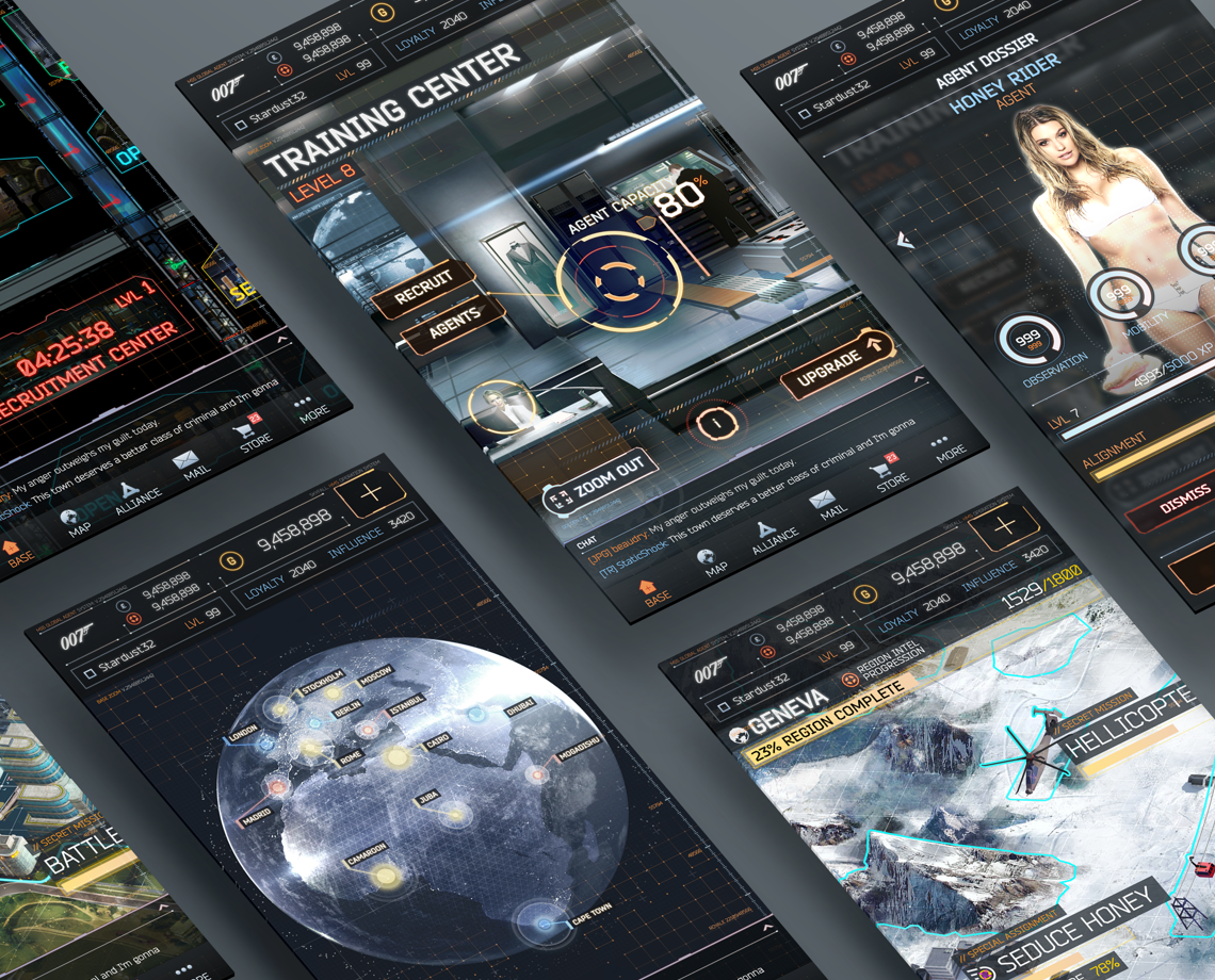 UI for James Bond 007: World of espionage